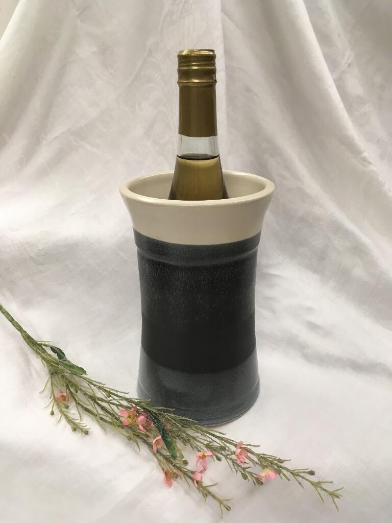 Wine Cooler, Black & White - Pavlo Pottery - Canadian Handmade