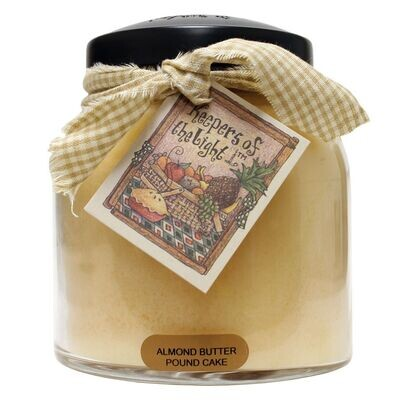 Almond Butter Pound Cake - Papa Jar - 34 oz - Double Wick - Keepers of the Light Candle