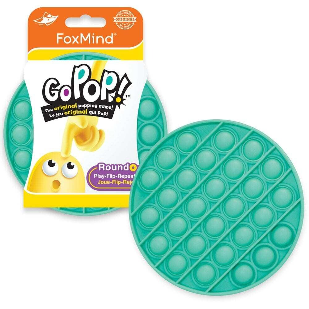 Go Pop! / Last One Lost - TEAL - Original Fidget Popping Game for 2 or more players - Just POP IT!
