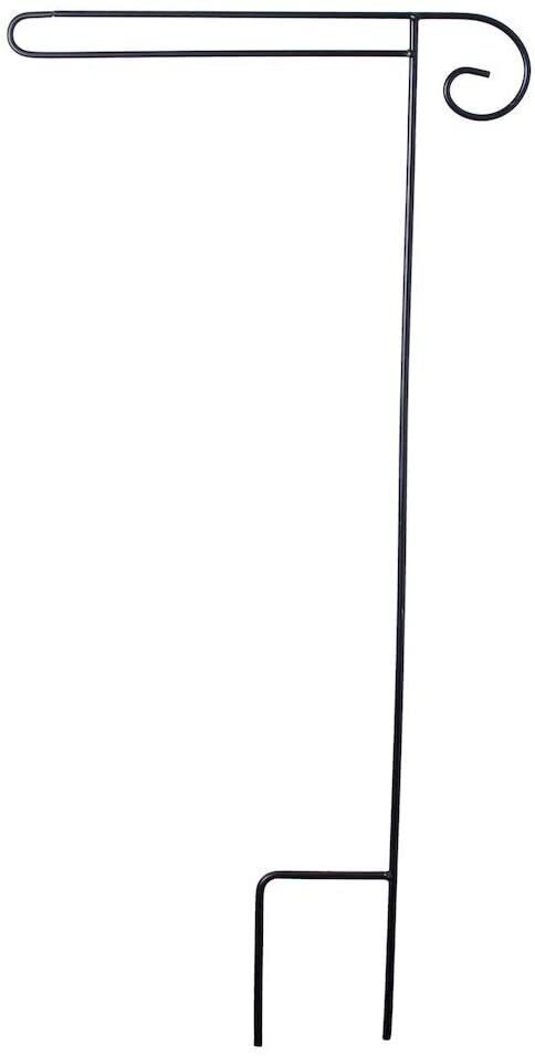 Flag Stand - Garden Wrap Around Stand - fits 12.5 x 18 inch Garden Flags - Wrought Iron