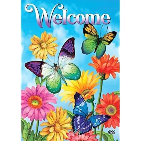 """Fluttering Butterflies - Garden Flag - 12.5 """" x 18"""""""