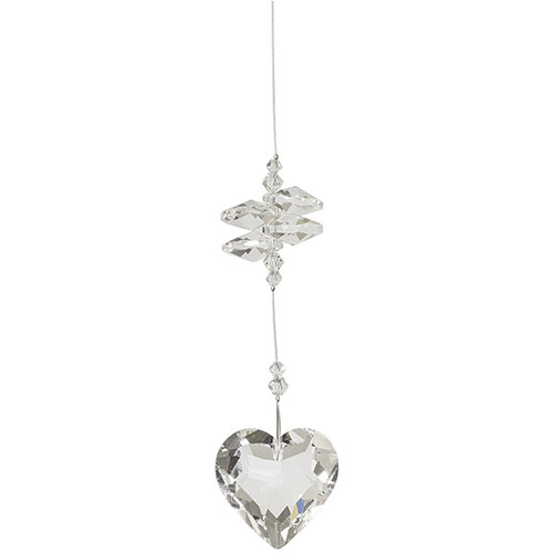 Friendship Heart Crystal - Clear Crystals - Crystal Suncatcher - Canadian Handmade Rainbow Maker