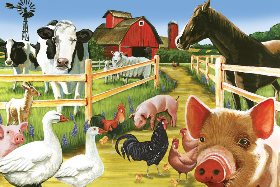 Floor Puzzle - Welcome to the Farm - 36 Piece Cobble Hill Puzzle