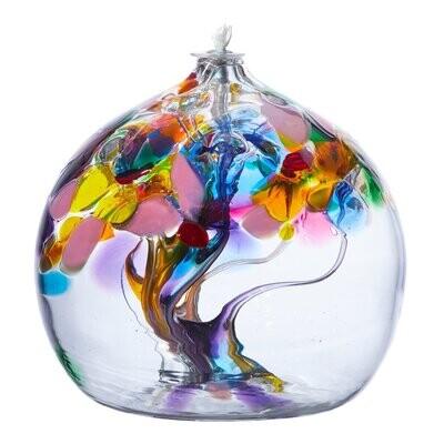 "Oil Lamp Friendship Ball - Joy - Tree of Enchantment 6""  - Canadian Blown Glass"