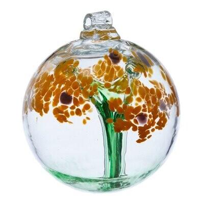 "3"" Blossom Friendship Ball - Thanks - Canadian Blown Glass"