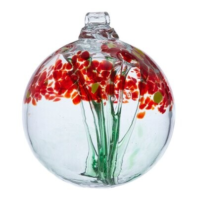 "3"" Blossom Friendship Ball - Greetings - Canadian Blown Glass"