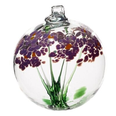 """3"""" Blossom Friendship Ball - Best Wishes - Canadian Blown Glass"""