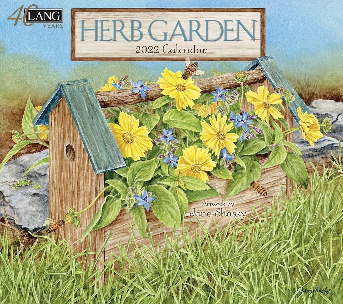 Lang Calendar - Herb Garden - Jane Shasky