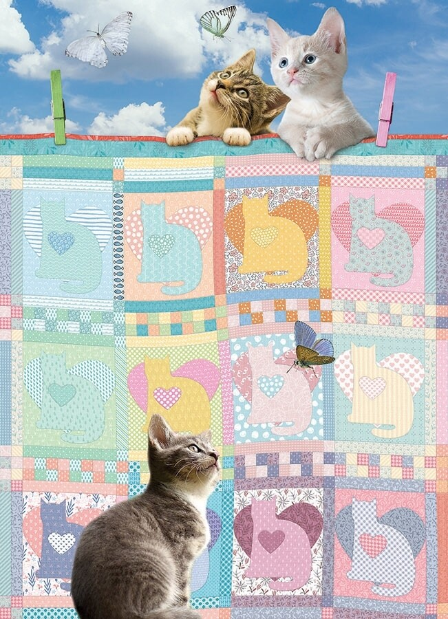 Quilted Kittens - 500 Piece Cobble Hill Puzzle