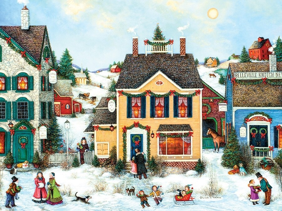 Christmas Town - Easy Handling - 275 piece Cobble Hill Puzzle