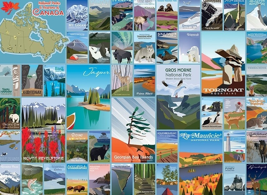 National Parks and Reserves of Canada - 1000 Piece Cobble Hill Puzzle