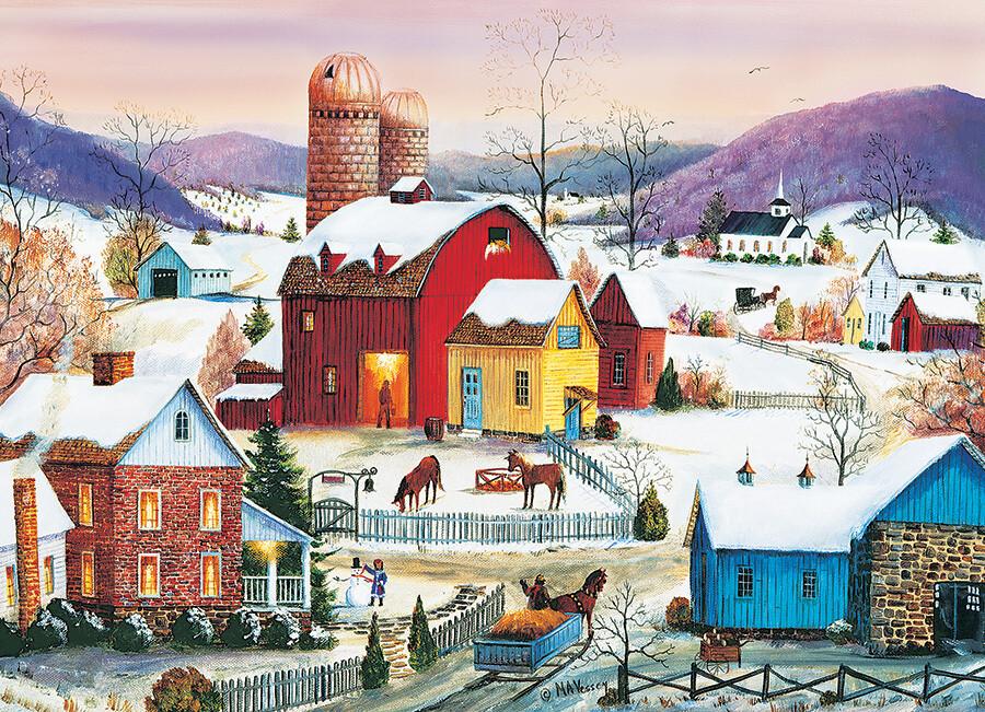 Winter Neighbors - 1000 Piece Cobble Hill Puzzle