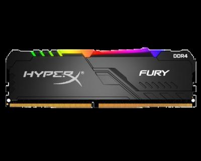 KINGSTON DIMM DDR4 8GB MEMORIJA 3000MHZ HX430C15FB3A/8 HYPERX FURY BLACK RGB