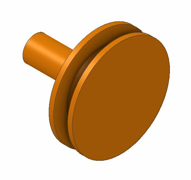 STB-CU: SET OF 20 STANDARD COPPER STUBS (Ø 12.7 mm, pin length 8 mm, Ø 3.2 mm)
