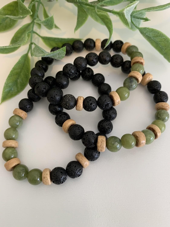 Lava Bracelet - Jade Stone