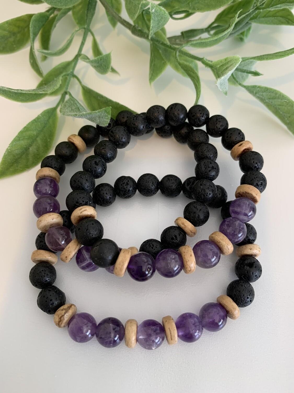 Lava Bracelet - Amethyst