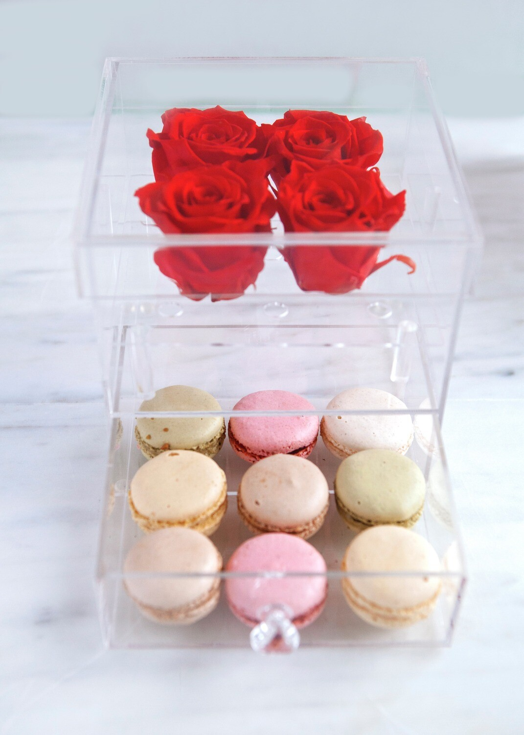 Say it with Roses and Macarons