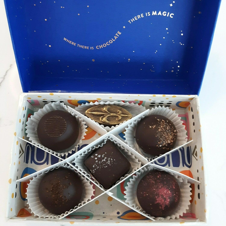 6pc Dark Chocolate Truffles