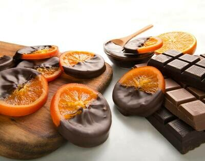 Candied Orange Slice Dipped in Dark Chocolate