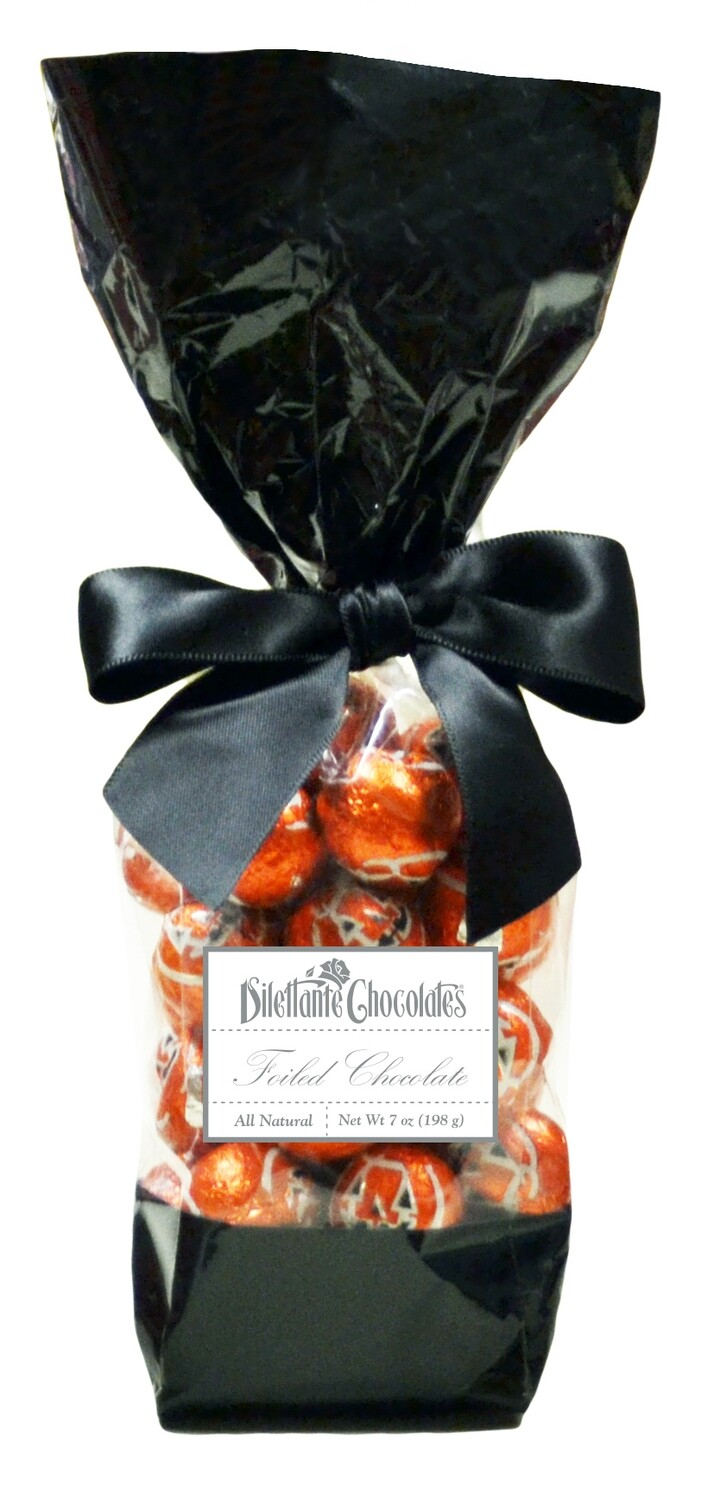 Halloween Foil Wrapped Solid Milk Chocolate Balls
