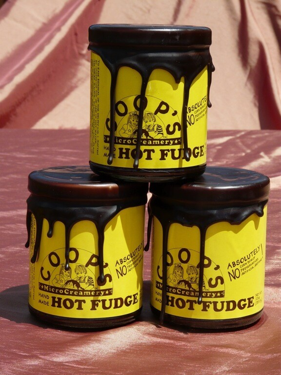 Coops MicroCreamery Hot Fudge or Salted Caramel Sauce (Vegan Version Available Too)