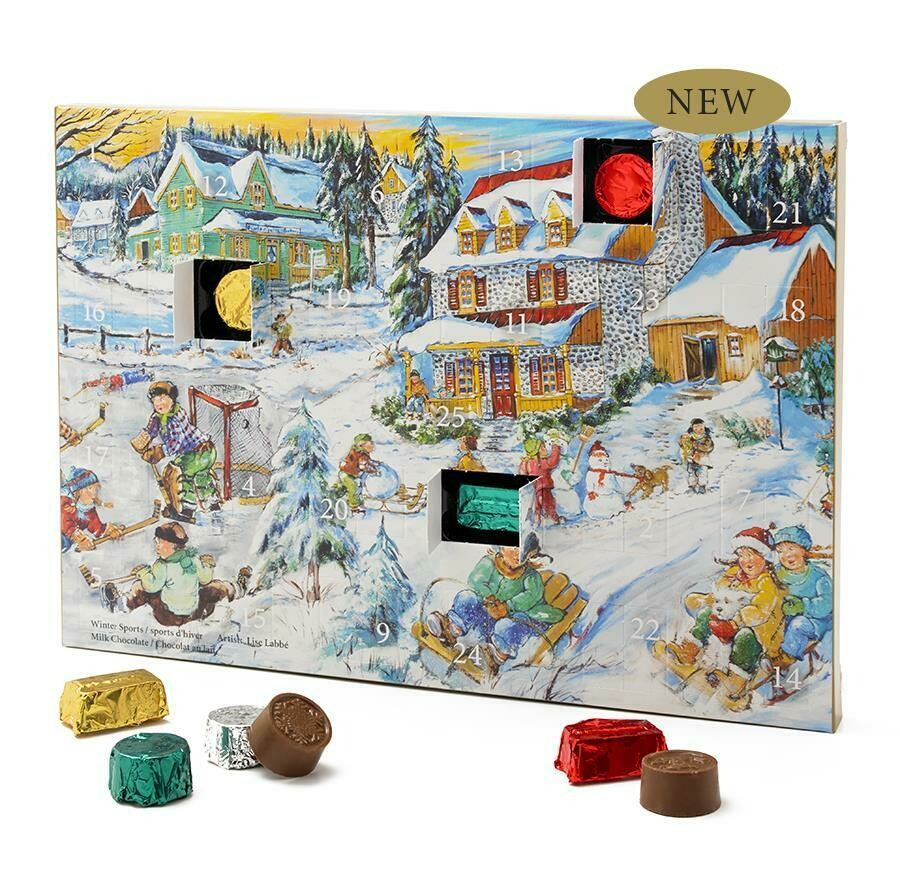 Advent Calendar Filled with Dark Chocolates