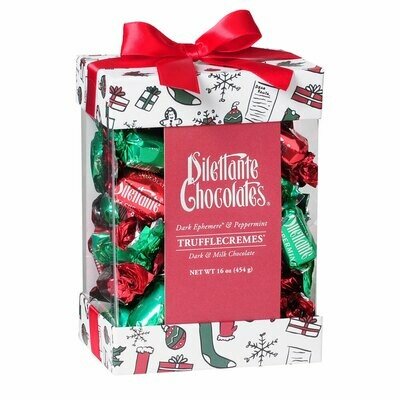 1 lb. Christmas Holiday Assorted Truffle Cremes in Dark Chocolate by Dilettante