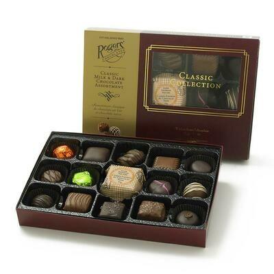 Roger's Chocolates Classic Dark Or Milk Chocolate Assorted Truffles, Creams & Caramels