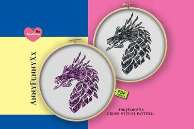 Dragon cross stitch pattern PDF