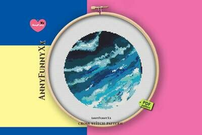 Ocean cross stitch pattern PDF Small cross stitch, Nautical Xstitch