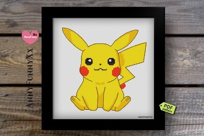 Pokemon Pikachu cross stitch pattern PDF