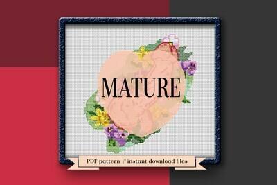 Adult cross stitch pattern PDF. Penis Xstitch pattern
