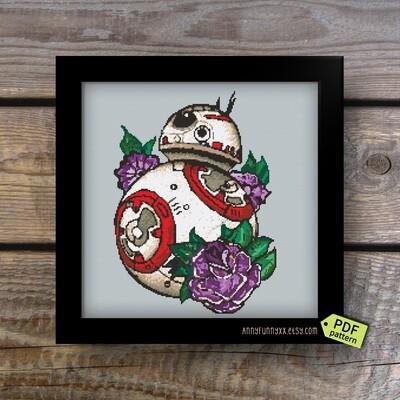 Star Wars cross stitch pattern PDF  BB-8