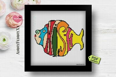 Phish cross stitch patterns Pixel Phish art