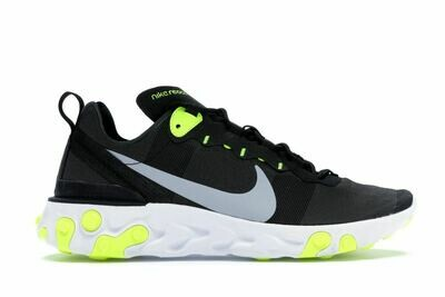 Nike React Element 55 Black Wolf Grey Volt