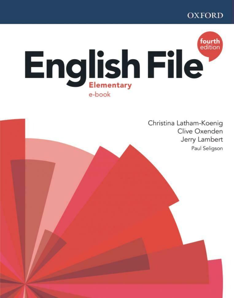 English File ELEMENTARY, 4-ое издание (учебник + тетрадь)