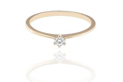 Classic – Gold - gyémánt eljegyzési gyűrű