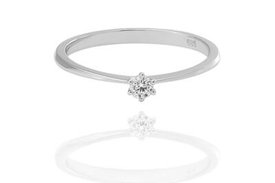 Classic – White Gold - gyémánt eljegyzési gyűrű