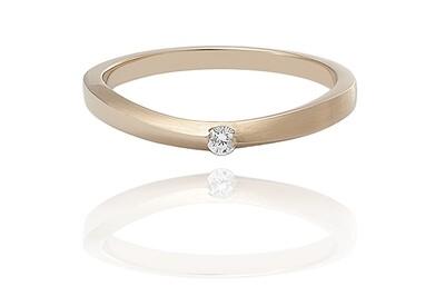 Lisbon - Gold - gyémánt eljegyzési gyűrű