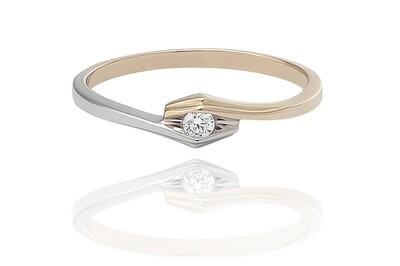 Olive - gyémánt eljegyzési gyűrű
