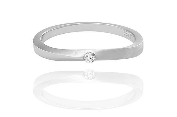 Lisbon – White Gold - gyémánt eljegyzési gyűrű