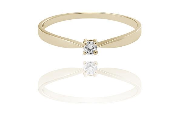 Elle - Gold - gyémánt eljegyzési gyűrű