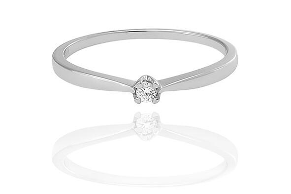 Ciara - White Gold - gyémánt eljegyzési gyűrű