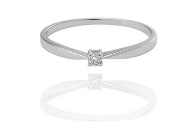 Elle - White gold - gyémánt eljegyzési gyűrű
