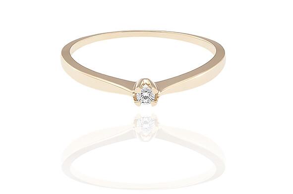 Ciara - Gold - gyémánt eljegyzési gyűrű