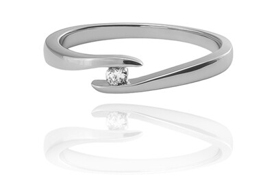 Paulina – White Gold - gyémánt eljegyzési gyűrű