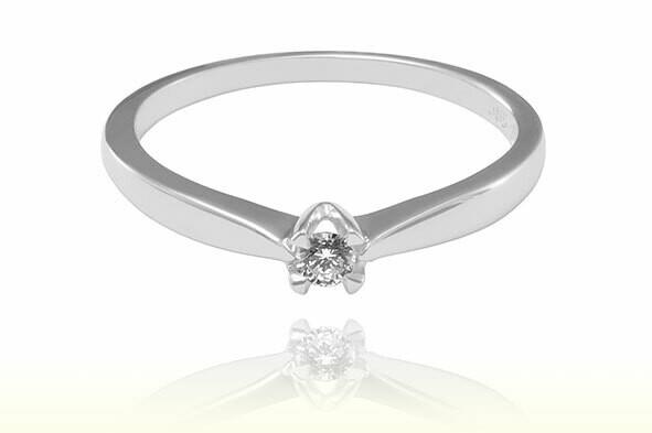 Vyvien - gyémánt eljegyzési gyűrű