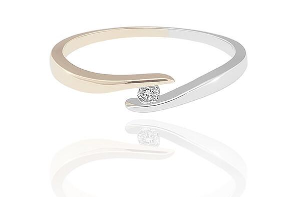 Paulina - Gold - gyémánt eljegyzési gyűrű