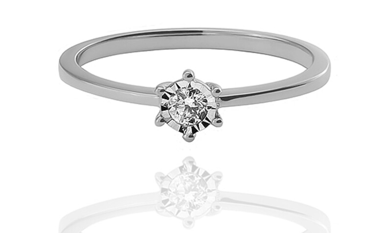Primrose - gyémánt eljegyzési gyűrű