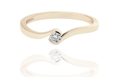 Laine - Gold - gyémánt eljegyzési gyűrű
